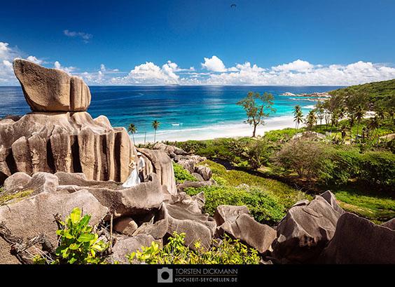 Hochzeit auf den Felsen der Grand Anse