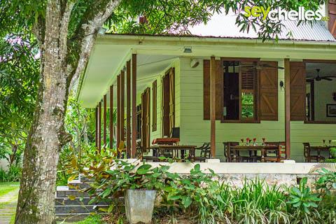 Seychellen Haus aus der Kolonialzeit