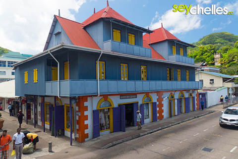 farbenfrohes Haus nahe des Marktes in Victoria