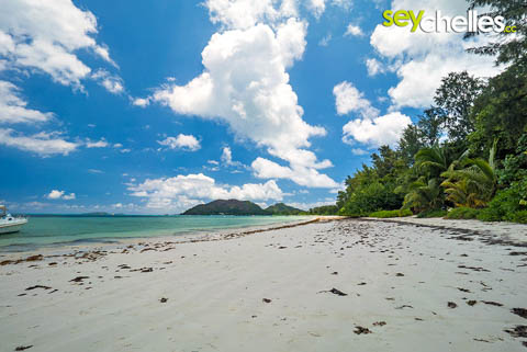 anse volbert is the biggest beach on praslin