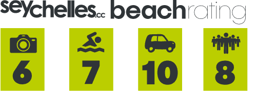 Our Beach Rating for Glacis Beach on Mahe