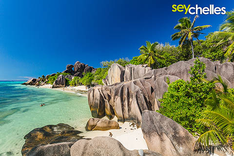Anse Source d´Argent on La Digue is Nr.3 in our Top 5 beaches of Seychelles