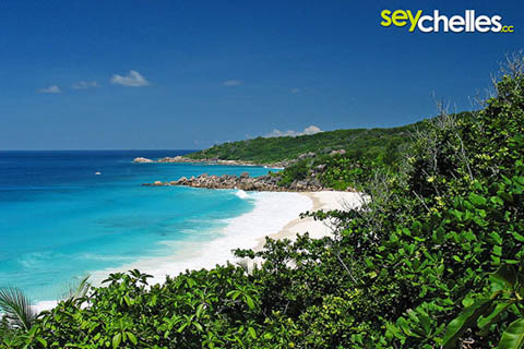 viewpoint between petite anse and anse cocos