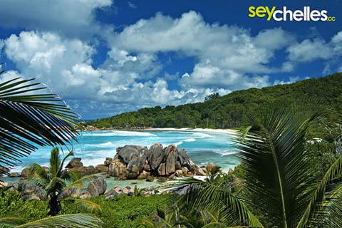 view towards the south - anse cocos la digue