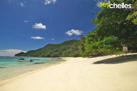 anse marie louise in the south of mahe